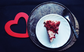 Picture Cake, Red heart, Cake, red heart