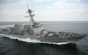 "Picture sea, ship, USA, destroyer, ""Arleigh Burke"""