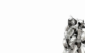 Picture black and white, Wolverine, Mystic, Wolverine, X-Men, comic, marvel, Marvel Comics, X-Men, Mystic