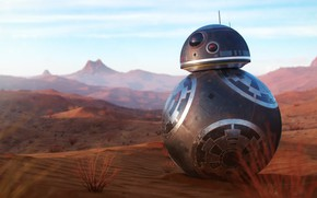 Wallpaper BB-1, robot, desert
