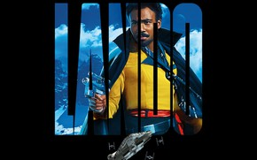 Picture fiction, black background, poster, Han Solo: Star Wars. History, Solo: A Star Wars Story, Lando, …
