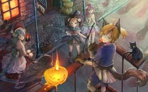 Picture anime, art, Vocaloid, Vocaloid, costumes, Halloween