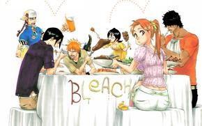 Picture food, Bleach, Ichigo Kurosaki, anime, Kuchiki Rukia, Orihime Inoue, Yasutora Sado, Renji Abarai, Uryu Ishida