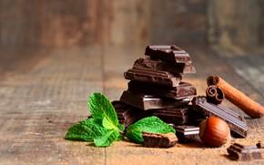 Picture Chocolate, Cinnamon, Mint, Nut