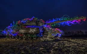 Picture color, line, night, tank