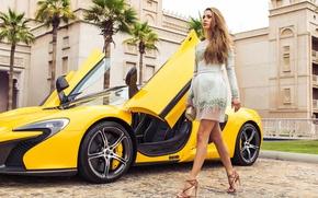 Picture machine, girl, car, Victoria Bonia