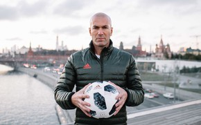 Wallpaper The ball, Sport, Football, Moscow, Russia, Adidas, Player, Zidane, FIFA, FIFA, Champion, Zinedine Zidane, World ...