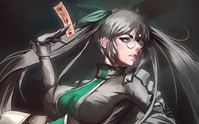 Picture girl, anime, man, asian, japanese, oppai, kanji, guardian, mahou, Drifters