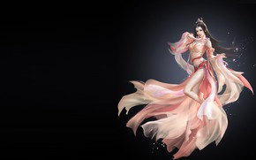 Picture the game, fantasy, art, illustrator, li miao, dizan costume, The journey of women primary