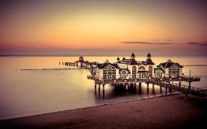 Picture sea, sunset, shore, Germany, Sellin, Mecklenburg-Vorpommern