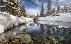 Wallpaper winter, snow, lake