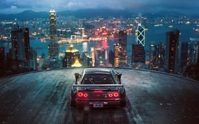 Wallpaper Tuning, R34, Future, City, Nissan, Skyline, by Khyzyl Saleem