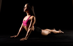 Wallpaper workout, female, pose, fitness