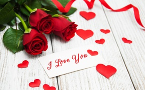 Picture roses, red, love, buds, i love you, heart, flowers, romantic, roses, red roses, valentine`s day