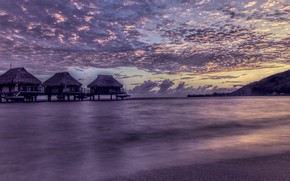 Wallpaper shore, the evening, sea