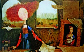 Picture pictures, Gapchinska, redhead artist