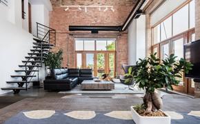 Wallpaper Villa, Chicago Loft, interior, living room