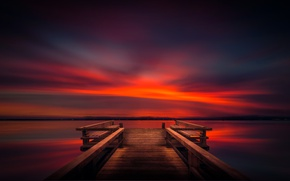 Picture the sky, landscape, Marina, wooden