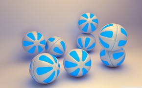 Picture background, balls, blue