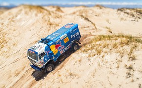 Picture Sand, Sport, Truck, Race, Master, Russia, Kamaz, Rally, Dakar, KAMAZ-master, Dakar, Rally, KAMAZ, 507, The …