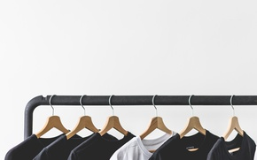 Picture clothing, hanger, t-shirt