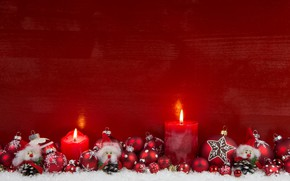 Picture holiday, new year, candles, decor