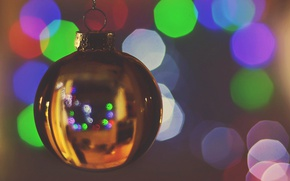 Wallpaper toy, new year, Christmas, ball