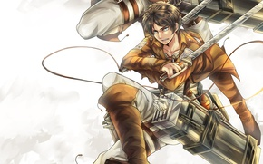 Picture anime, art, Shingeki no Kyojin, Eren, Attack of the titans, The invasion of the giants