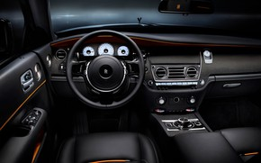 Picture car, Rolls Royce, Rolls Royce Dawn Black Badge, Steering wheel