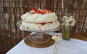 Picture Strawberry, Flowers, Sweets, Flowers, Cake, Cake, Pie, Strawberries, Strawberry pie