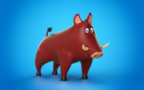 Picture Cinema 4D, Animal, Toy, Pig