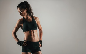 Picture model, fitness, abs