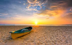 Wallpaper sand, sea, beach, summer, the sky, sunset, summer, beach, sky, sea, sunset, seascape, romantic, sand