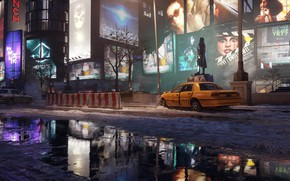 Picture night, the city, lights, street, devastation, Tom Clancy's, The Division