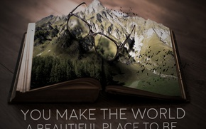 Picture the world, world, book, beautiful, mountains, book