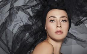 Picture look, face, model, fabric, Alejandra Perez