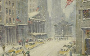 Picture picture, the urban landscape, Guy Carleton Wiggins, Guy Wiggins, Treasury Building in the Distance, A ...
