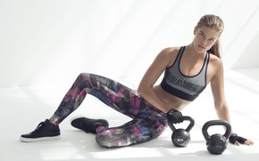 Picture pose, gloves, fitness, pose, Nina Agdal, workout, workout, fitness, gloves, Nina Agdal, weights, CrossFit, Crossfit