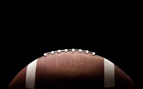 Wallpaper the ball, macro, American football, the game