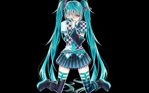 Picture girl, background, art, vocaloid