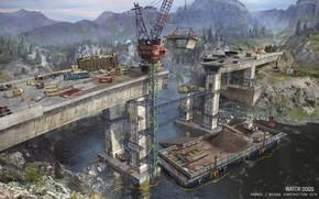 Picture bridge, construction, technique, Watch Dogs - environments, bridge construction