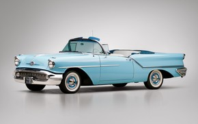 Picture 1957, Retro, Convertible, Oldsmobile, Golden Rocket 88