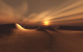 Wallpaper sand, landscape, desert, barkhan