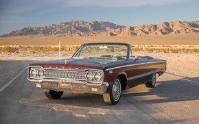 Wallpaper Dodge Custom, 880, 1965, Convertible