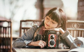 Picture girl, mood, camera