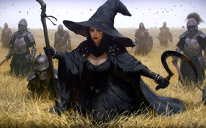 Picture sword, fantasy, armor, field, weapon, hat, crow, army, stick, artwork, wheat, fantasy art, skeletons, pearls, …