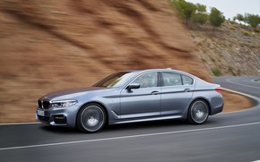 Picture asphalt, grey, markup, speed, BMW, sedan, 540i, 5, M Sport, four-door, 2017, 5-series, G30