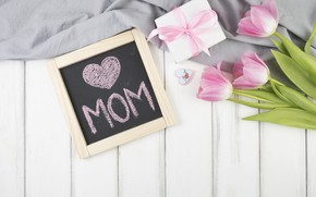 Wallpaper gift, Love, tulips, gift, Celebration, Mothers day