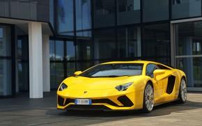 Picture Lamborghini, Yellow, Aventador