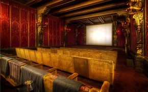 Wallpaper screen, a number, chair, movie, hall, cinema, movies